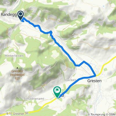 Einfache Fahrt in Randegg