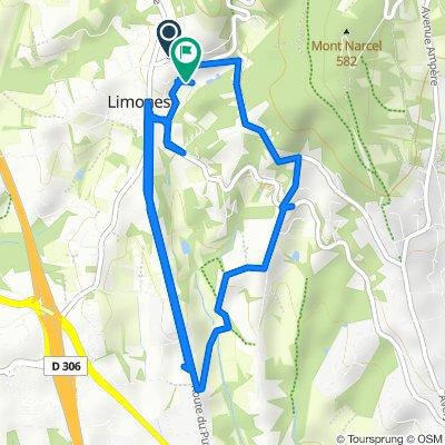 De 133 Route du Mont Verdun, Limonest à 254 Route du Mont Verdun, Limonest