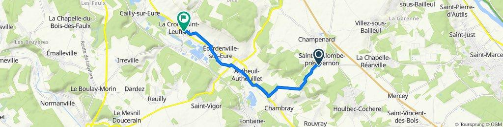 De 9 Rue de Chambray, Sainte-Colombe-près-Vernon à 7–19 Rue de Louviers, La Croix-Saint-Leufroy