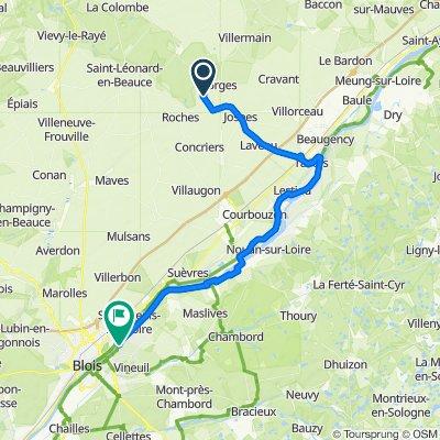Route to Le Lac de Loire, Vineuil