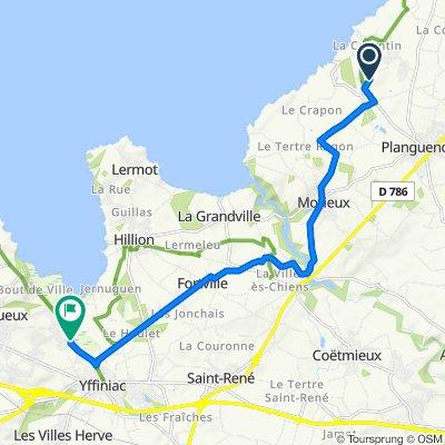 Itinéraire vers 23 Rue des Grèves, Langueux