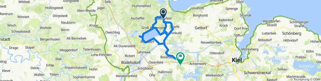 Radroute 2 - Wittensee - Goosefeld - Holtsee - NOK