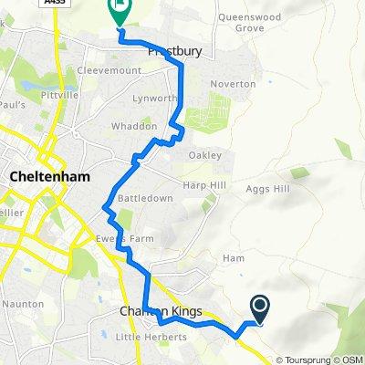 Wellinghill View, London Road, Cheltenham to 29 Apple Orchard, Cheltenham