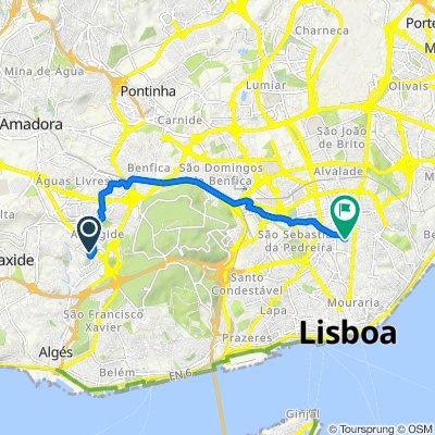 Avenida dos Cavaleiros 73, Carnaxide to Rua José Estêvão 1, Lisboa