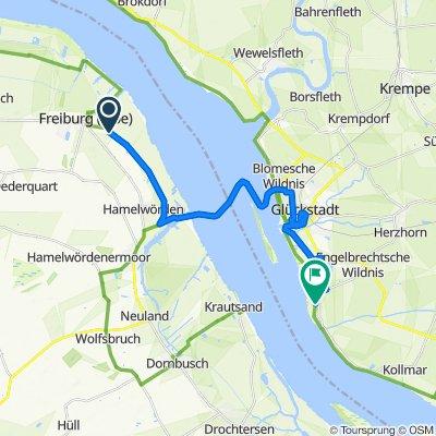 Route im Schneckentempo in Glückstadt