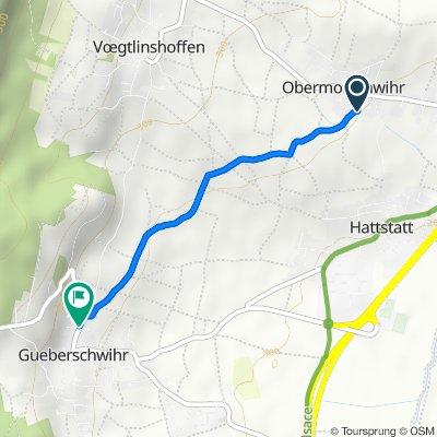 De Rue du Scheidweg, Hattstatt à 17 Rue du Nord, Gueberschwihr