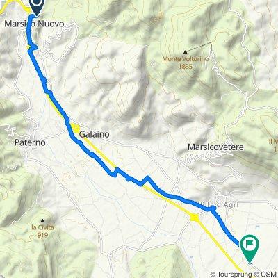 Da Traversa Seconda San Donato 8, Marsico Nuovo a Contrada Salicone, Viggiano