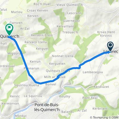 De Rue du Pont Neuf, Lopérec à D770, Pont-de-Buis-lès-Quimerch