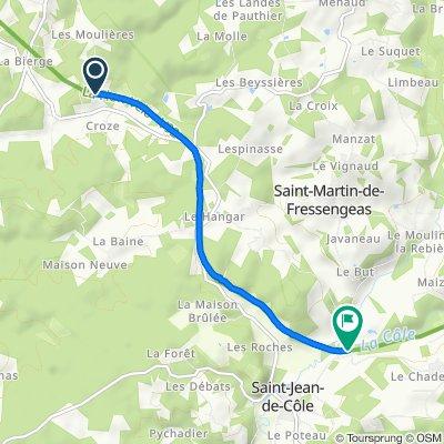 Route to 212 Pont de Lavaud, St-Jean
