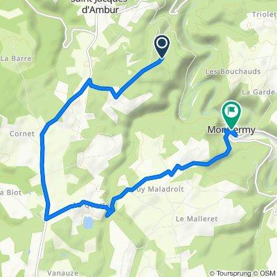 Itinéraire vers Le Bourg, Montfermy
