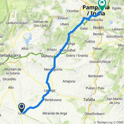 De Calle Yoldi 17, Lerín a Calle José Luis Prieto Gracia 412, Pamplona