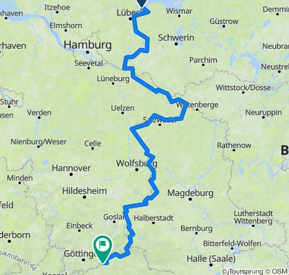 Travemünde-Duderstadt,570km