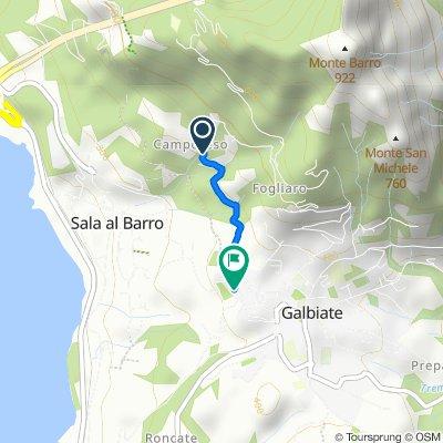 Da Via Camporeso 5, Galbiate a Via Bertarelli 9, Galbiate