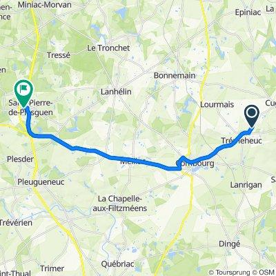 De 4 Pierre Fendue, Trémeheuc à 42 Rue Lamennais, Saint-Pierre-de-Plesguen