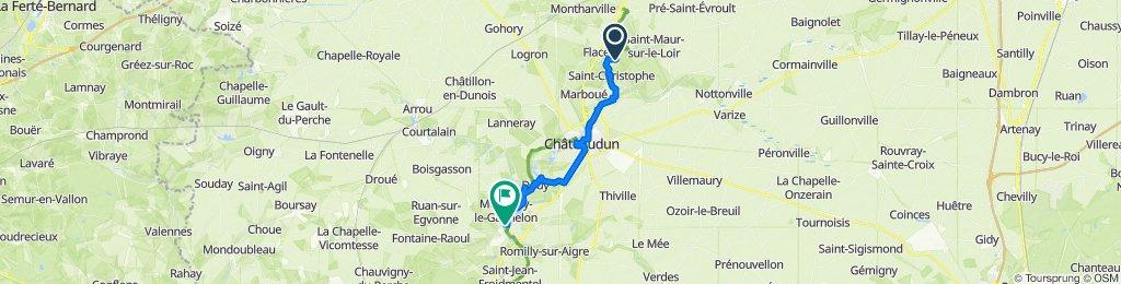 De La Mollière, Saint-Christophe à Route de Montigny 13A, Cloyes-sur-le-Loir