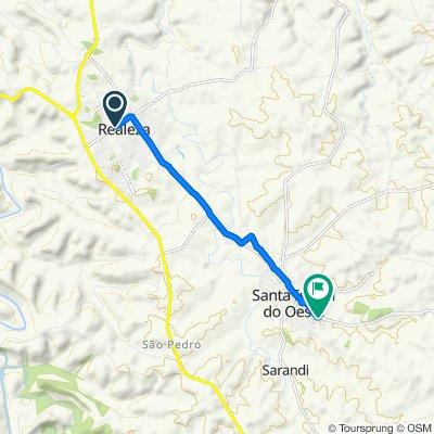 De Avenida Bruno Zuttion, 1192–1252, Realeza a Rua Guabiju, 890–998, Santa Izabel do Oeste