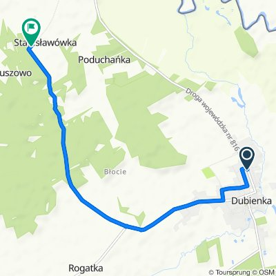 Tadeusza Kościuszki 13, Dubienka do Stanisławówka, Dubienka