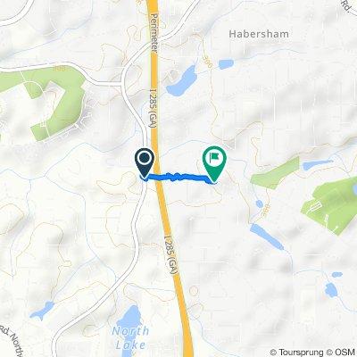 2827 Henderson Mill Rd NE, Atlanta to 3055 Henderson Rd, Tucker