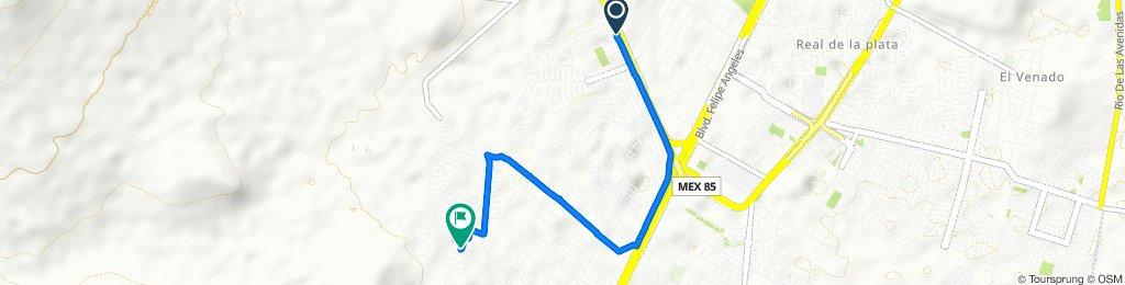 Ruta desde Boulevard Colonias, Pachuca de Soto