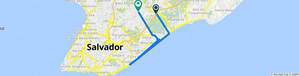 De Av. Centro Administrativo da Bahia, 460 - Novo Horizonte, Salvador - BA, 41745-002, Brasil a Rua Santo Antônio do Novo Horizonte 9