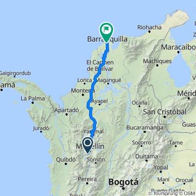 De Carrera 49 34, Caldas a Calle 78 5341, Barranquilla