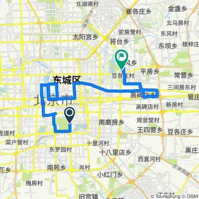 Route to No.1, Nongzhan South Road, Beijing