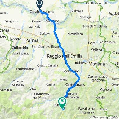 Da Via Carlo Pisacane, Casalmaggiore a Montefiorino