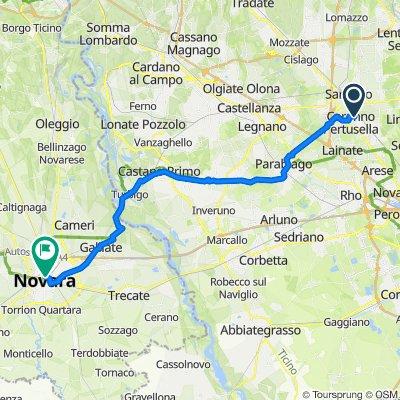 Da Via Italo Calvino 62, Caronno Pertusella a Largo Camillo Cavour 7, Novara