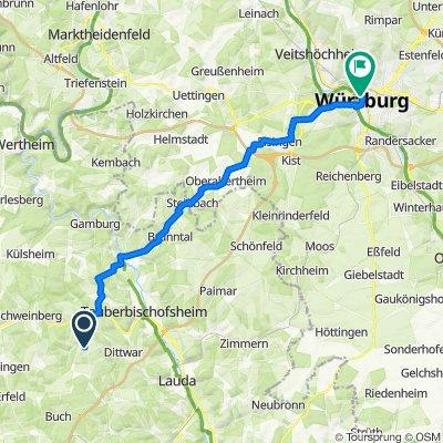 Adelsgraben 27, Königheim nach Eichhornstraße 1, Würzburg