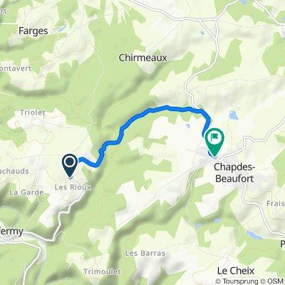 De D418, Chapdes-Beaufort à 9bis Rue de la Chartreuse, Chapdes-Beaufort