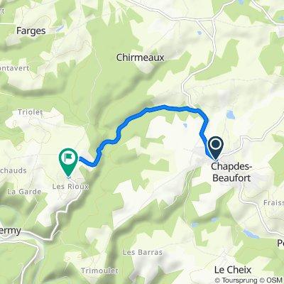 De 27 Rue de la Chartreuse, Chapdes-Beaufort à D418, Chapdes-Beaufort