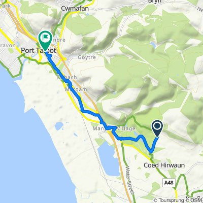Route to 91 Station Road, Port Talbot