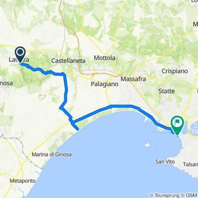 SP15, Laterza to Giardini Caduti sul Lavoro 1–5, Taranto