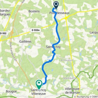 De 290 Chemin des Arroubis, Pouydesseaux à 175 Impasse de la Mairie, Saint-Cricq-Villeneuve