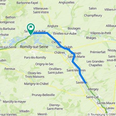 De Chemin des Prés, Marcilly-sur-Seine à Chemin des Prés, Marcilly-sur-Seine