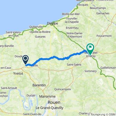 De 114 Impasse de l'Église, Grémonville à 18 Boulevard du Maréchal Joffre, Neufchâtel-en-Bray