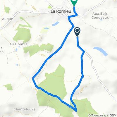 Itinéraire à partir de D166, La Romieu
