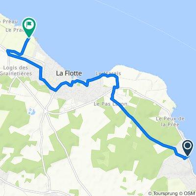 De Avenue de la Corniche 527, Rivedoux-Plage à Chemin du Petit Praud 3, La Flotte