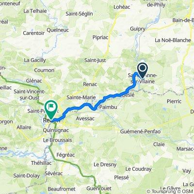 De 3–7 Rue de Messac, Sainte-Anne-sur-Vilaine à 1–10 Rue du Maréchal Foch, Redon