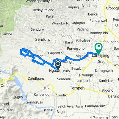 Jalan Semeru, Pasirian to Jalan Kyai Muksin 37c, Kecamatan Lumajang