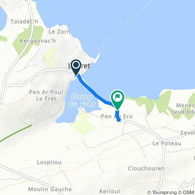De Rue du Moulin du Chat, Crozon à 36 Rue de Pen An Ero, Lanvéoc