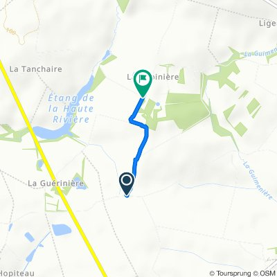 Route van Les Ardilliers, Mouchamps