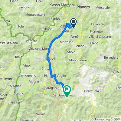 De Via dei Mulini, Loiano à Via Bruscoli Futa 889/H, Firenzuola
