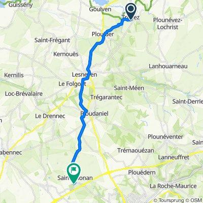 De Kerus 178, Tréflez à Hameau du Spernel 12, Saint-Thonan