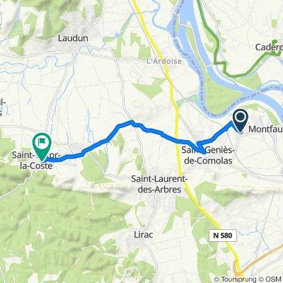 De 38 Ancien Chemin de Bagnols, Montfaucon à 3 Rue du Salet, Saint-Victor-la-Coste