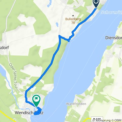 Friedrich-Engels-Damm 309, Bad Saarow nach Am Schilfhaus 2D, Wendisch Rietz
