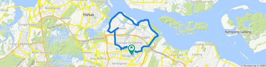 Hougang Avenue 6 527, Singapore to Hougang Avenue 6 526, Singapore