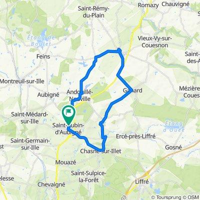 De 3 Allée de la Croix Moussard, Saint-Aubin-d'Aubigné à 3 Allée de la Croix Moussard, Saint-Aubin-d'Aubigné