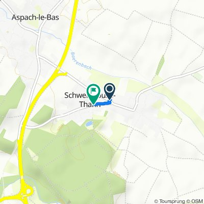 4 Rue d'Aspach-le-Bas, Schweighouse-Thann to 6B Rue du Pont d'Aspach, Schweighouse-Thann