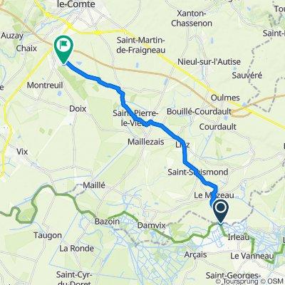 Itinéraire modéré en Le Vanneau-Irleau